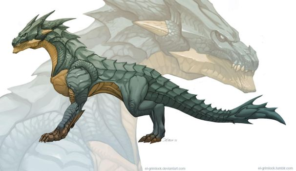 Dragon concept 2 by el-grimlock