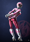 Pink Power Ranger - Pinup Poster by FluffyBlueCow