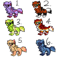 chibi wolf adopts batch 3 (5/6 open) by caramellique