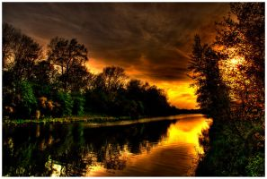 Golden river by kaldrick