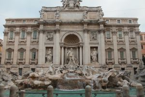 Trevi Fountain Rome Italy by Vinanti