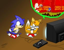 Sonic and Tails Play Genesis by comok64