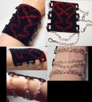 Chained Heartless Cuff by wickedorin