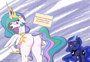 Pony Shaming - Celestia by DeusExEquus