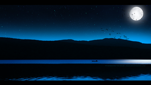 Birds flying in the night by RazielMB