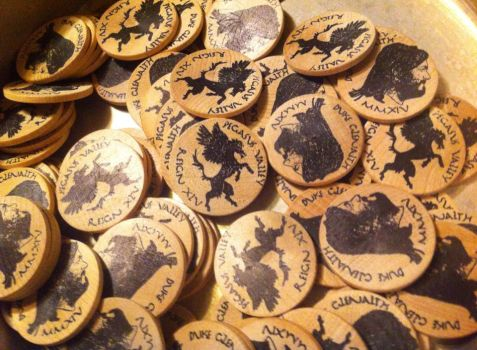 Amtgard, Duchy of Pegasus Valley 2014 Coinage by thecardinal