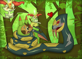 Caught in a Love Triangle! by Kiniun-Latios