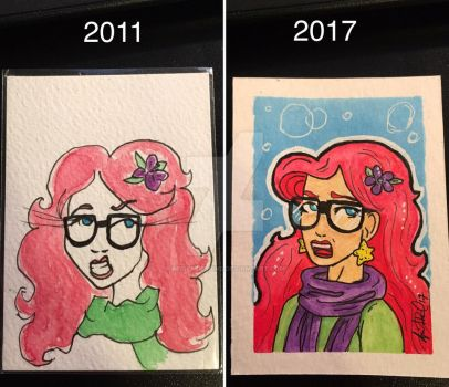 Before and After Hipster Ariel by aprilmdesigns