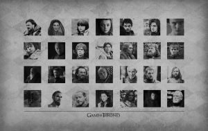 Game of Thrones Cast Wallpaper by alexiahart