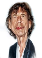 Mick Jagger Caricature by hookbook