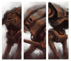 3 Rusted Robots by Marcodalidingo