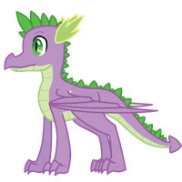 MLP:FiM Young Adult Spike by Pony-Spiz