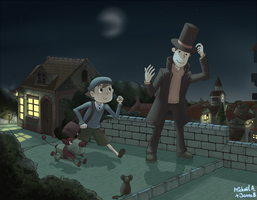 Prof Layton: The Veil of Night by Frario