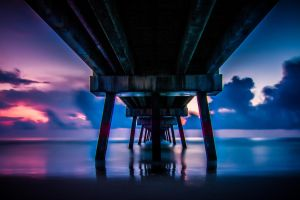 Under the Pier sunrise by 904PhotoPhactory