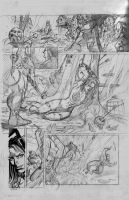 Red Sonja e Thor Sample Pencil Pg01 by RodGallery