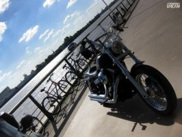 One Harley on the docks by AuroraxCore