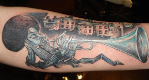 Trumpet Man Tattoo by BobRoss2