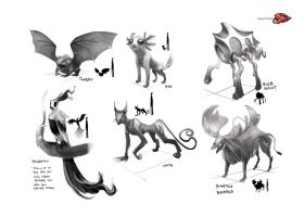Ssonya project - Creature Designs2 by SillyJellie