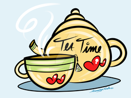 9-4-14 Tea Time by artinthegarage