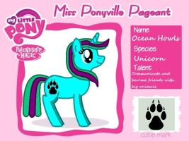 Miss Ponyville Pageant - Ocean Howls by Randina42