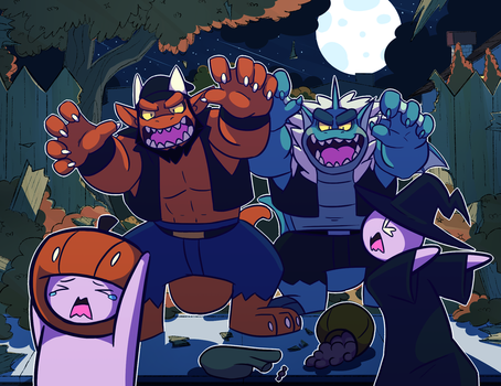 Trick or Be Scared by HiKazeDragon