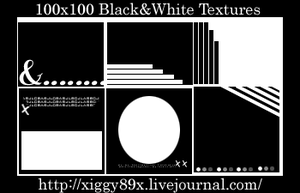 Black and White Textures by xiggy01x