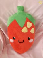 Kawaii Strawberry Pillow by LiLMoon