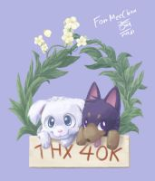 Thx 40000 hits - 2 Dogs by aun61