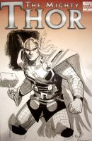 Thor cover sketch by ReillyBrown