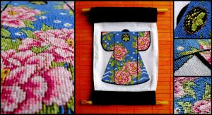 Kimono Cross stitch by BlackEyesSnowAngel