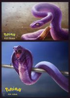 023-024 Ekans and Arbok by DanteCyberMan