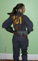 Fallout 3 Armored Vault Suit Cosplay Back by SilverIceDragon1