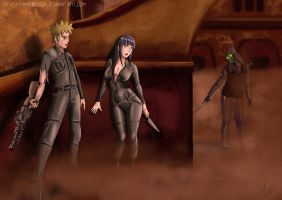 Commission: NaruHina - Oh no!!!!! He comes... by Amenoosa