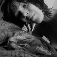 Romane et son chat by Rayon2lune