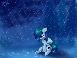 In the rain by Atrixy