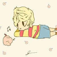 Lucas and Mr Saturn by chedder100