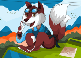Max in Foxy style by RollerCoasterViper59
