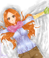 Orihime: Snow Angel - Winter colors 2012 by BitterSweetNitemare