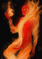 HoMM 3: Fire Elemental sketch by JJ-Power