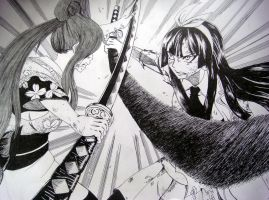 Kagura vs. Erza by EvanRank