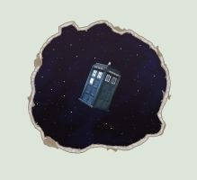 TARDIS Wall Mural Mock Up DA Version by ShadowMaginis