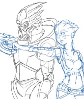 Astra and Sol WIP by Sarukin