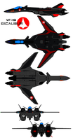 VF-19 Excalibur black panther by bagera3005