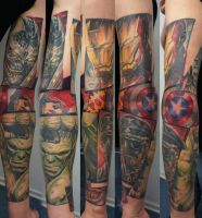 comic arm project in progress by graynd