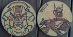 Dragon Booster Coaster Set 3 (Giveaway!) by bluesonic1