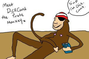 DickCunt, that dirty Pirate Monkey by Ashelectric
