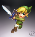 Toon Link by hybridmink