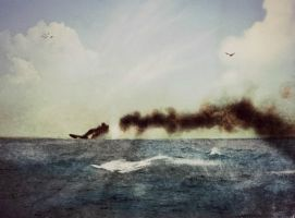 Death of Indefatigable by RMS-OLYMPIC
