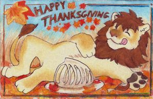 ThanksGiving Lion 2014 by RuntyTiger