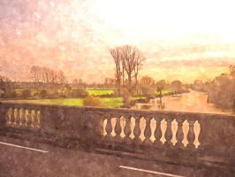 A View from the Bridge at wallingford England by MarmaladePrints